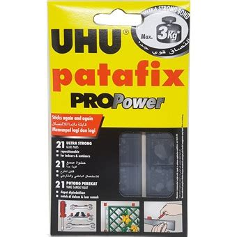 Uhu Patafix Propower Glue Pads uhu patafix propower black removable adhesive up to 3kg