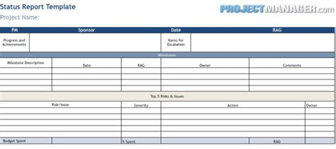 flash report template excel status report template engineering management