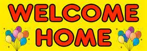 welcome home banners welcome home banner with balloon pictures personalised