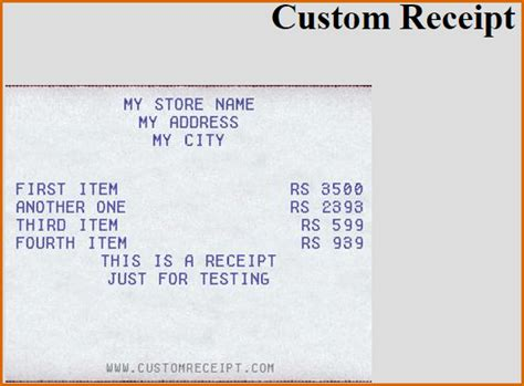 make your own receipt template 7 make your own receipt authorizationletters org