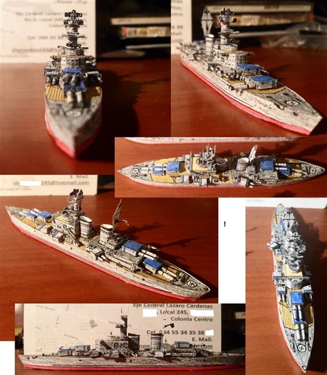 Battleship Papercraft - battleship h 44 class by aolrumi001 on deviantart