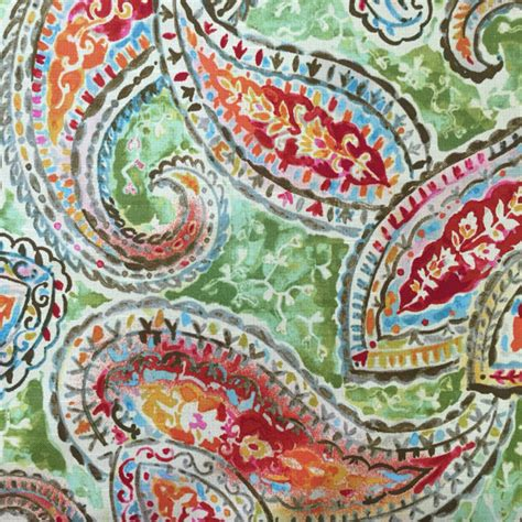 whimsical upholstery fabric birght and whimsical paisely kelly ripa upholstery fabric