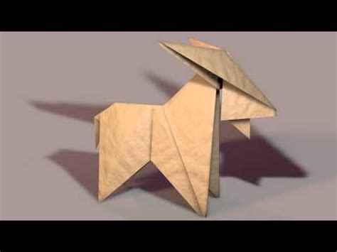 How To Make A Paper Goat - 3d paper origami goat