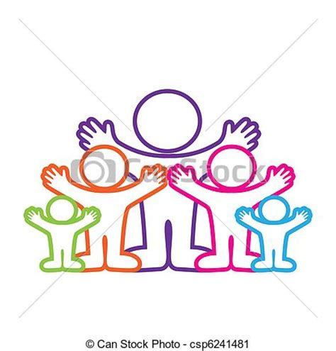 family gathering design vector vector clip art of emblem family template symbol the