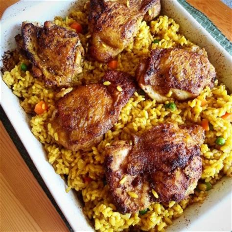 chicken and rice food chicken thighs and rice bake