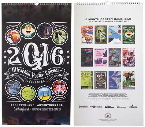Poster Calendar Disney Parks Attraction Poster Deluxe Calendar Returns For