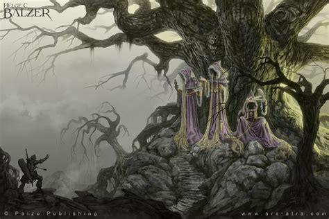 pathfinder illustration norns c paizo by