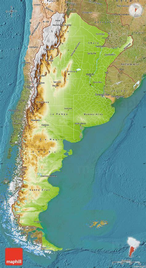 argentina physical map argentinien geographischen karte