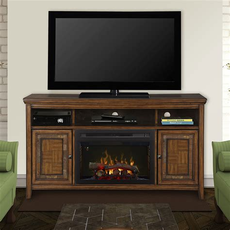 lynbrook cinnamon electric fireplace entertainment center