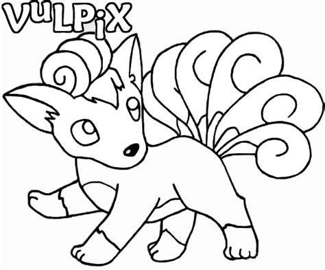 vulpix and ninetales coloring pages coloring pages