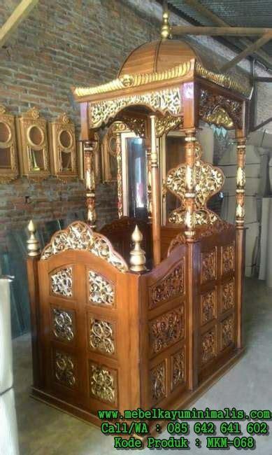 Best Seller Meja Nakas Stand Meja Sudut Jepara model mimbar masjid jepara ukiran mebel kayu minimalis