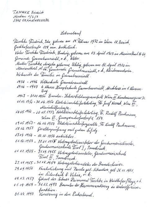 Lebenslauf Muster Handgeschrieben Lebenslauf Handgeschrieben Lebenslauf Beispiel