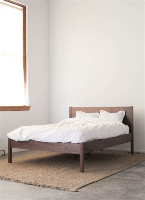 mortise and tenon bed frame solid walnut bed frame remodelista