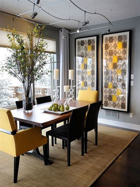 yellow dining room trendy colour duo 20 dining rooms that serve up gray and