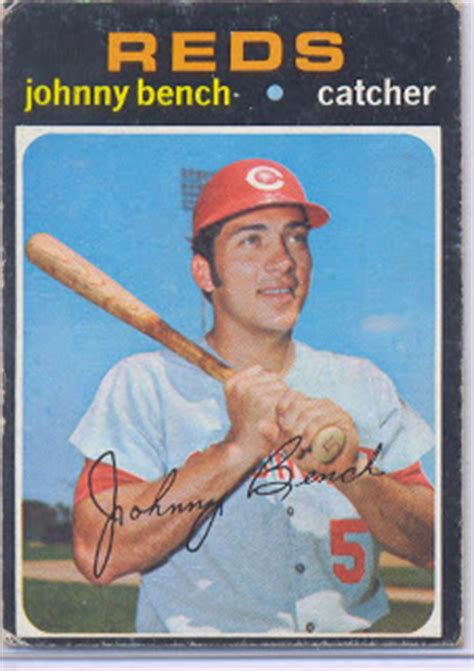 johnny bench stats stats on the back march 2009
