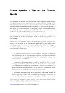 Pro Marriage Speech Outline by Groom Speeches Tips For The Groom S Speech