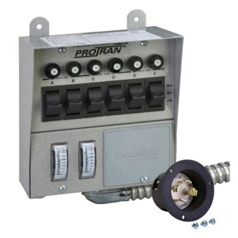 reliance controls 30 6 circuit transfer switch 30216a