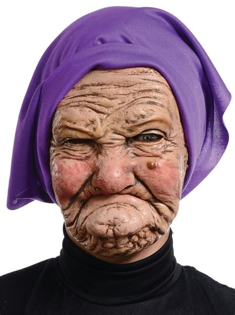images of 64yr old wrinkly women old woman granny latex wrinkled face head purple scarf