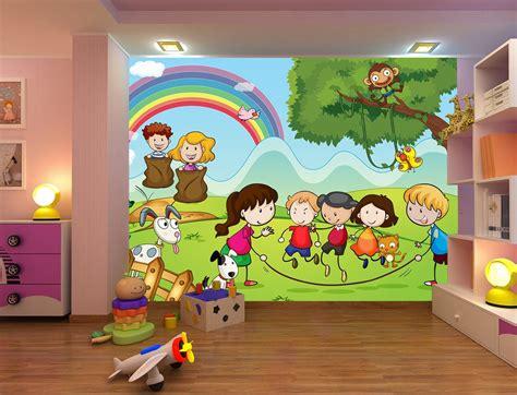 imagenes infantiles de niños jugando fotomural infantil ni 241 os jugando en el co