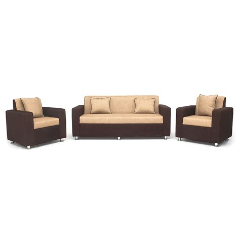 Sofa Set Shopping In India by Buy Bharat Lifestyle Tulip 3 1 1 Brown And Sofa Set