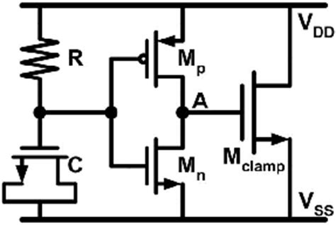 esd diode pcb layout esd detection circuit controlling to using esd cl circuit with adjustable holding voltage and