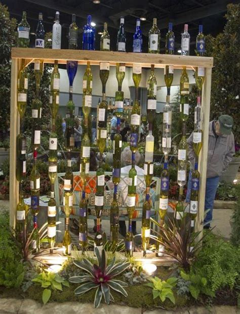 Glass Bottles Garden Decor That Will Steal The Show Wine Bottle Garden Wall