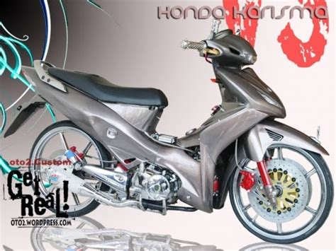 Spakbor A Karisma motor cycle modifikasi modifikasi honda karisma trans