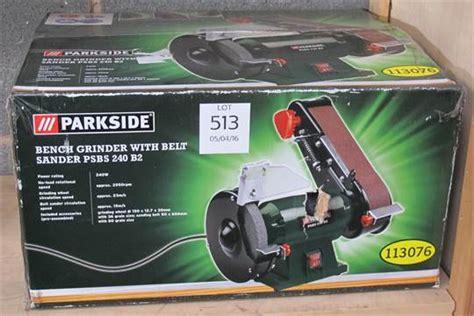 parkside bench grinder parkside bench grinder with belt sander model psbs 240b2