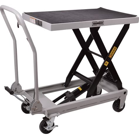 Roughneck Hydraulic Table Cart 1 000 Lb Capacity