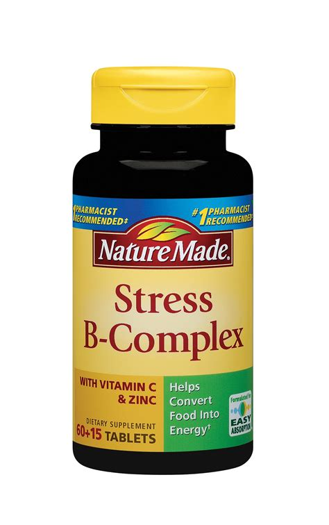 Vitamin Zinc Complex nature made stress b complex with zinc 75 tablets