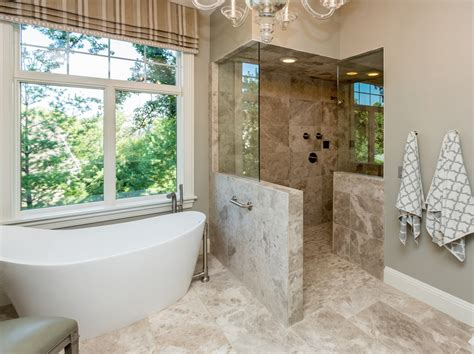Walk In Shower Ideas No Door Bathroom Transitional With Bathrooms With Walk In Showers