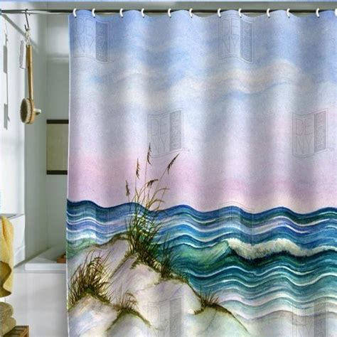beachy shower curtains beach themed bathroom shower curtains html