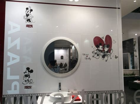 mickey mouse tiles for bathroom decorative tile ideas from cevisama 2015 toa s blog