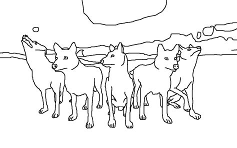 coloring pages of wolf packs wolf pack coloring pages