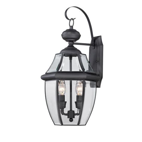 Portfolio Outdoor Lighting Shop Portfolio Brayden 20 25 In H Mystic Black Outdoor Wall Light At Lowes