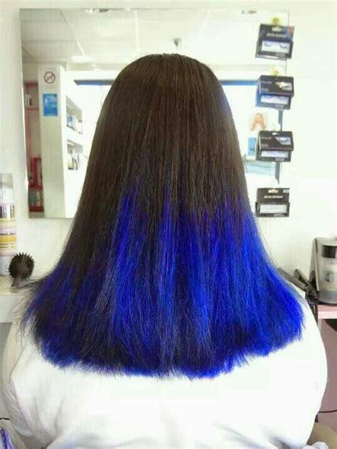 une coiffure tendance cest un dip dye felin orange et noir selon coiffure tie and dye bleu