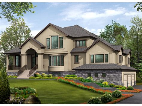 multi level house gardencrest rustic home plan 071s 0034 house plans and more