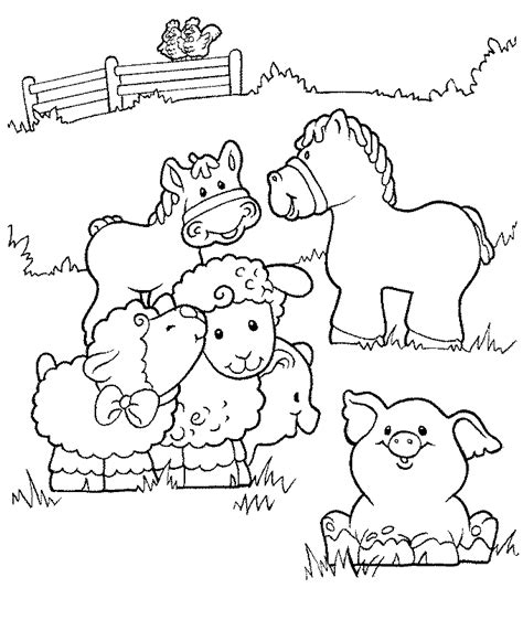 farm animals coloring pages preschool farm coloring pages for preschool coloring home