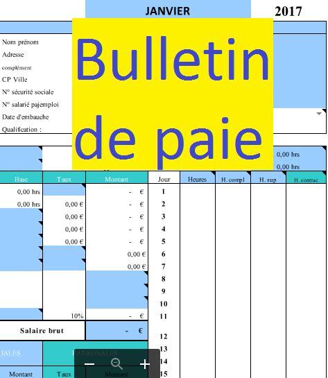 Modele Fiche De Paie Excel