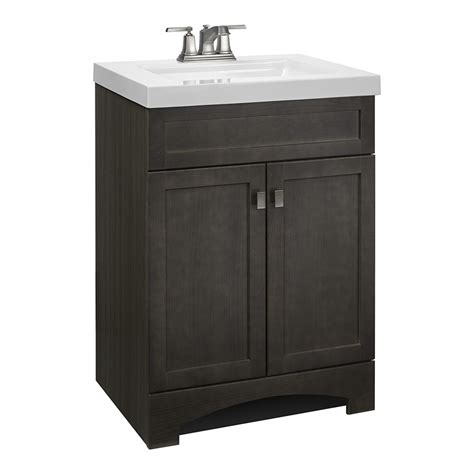 24 Bathroom Vanity And Sink Shop Style Selections Drayden Gray Integrated Single Sink Bathroom Vanity With Cultured Marble