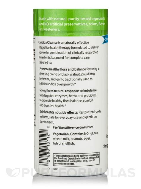 Candida Cleanse Detox Recipe by Candida Cleanse 120 Tablets