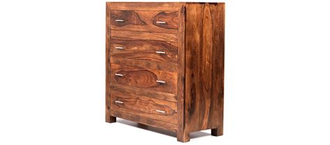 Sheesham Wood Chest Of Drawers by Cube Sheesham 4 Drawer Chest Of Drawers Quercus Living