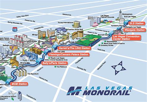 las vegas tram map the various las vegas monorails and trams