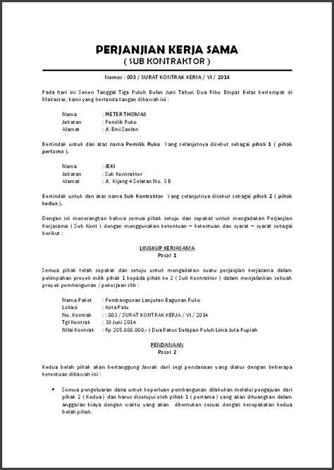 Cara Membuat dan Contoh Surat Kontrak Perjanjian Kerja