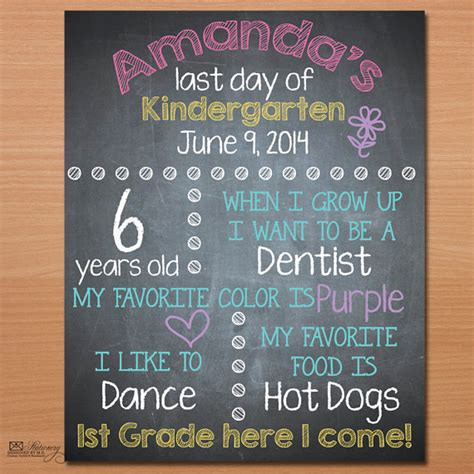 day of school sign template printable last day of school sign last day of by