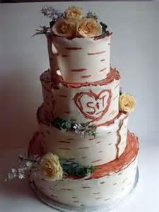 birch bark wedding cake ideas and designs