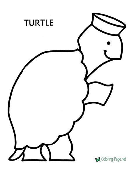preschool coloring pages turtles preschool coloring pages turtle to color