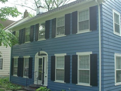 blue house white trim exterior home painting cleveland best buy painting mayfield