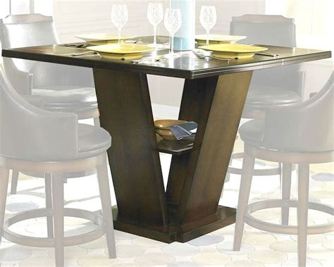 counter height tables homelegance counter height pedestal dining table bayshore