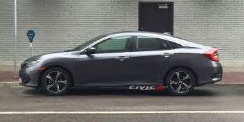new 2016 honda civic sedan photographed undisguised